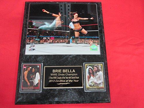 Brie Bella WWE 2 Card Collector Plaque #2 w/8x10