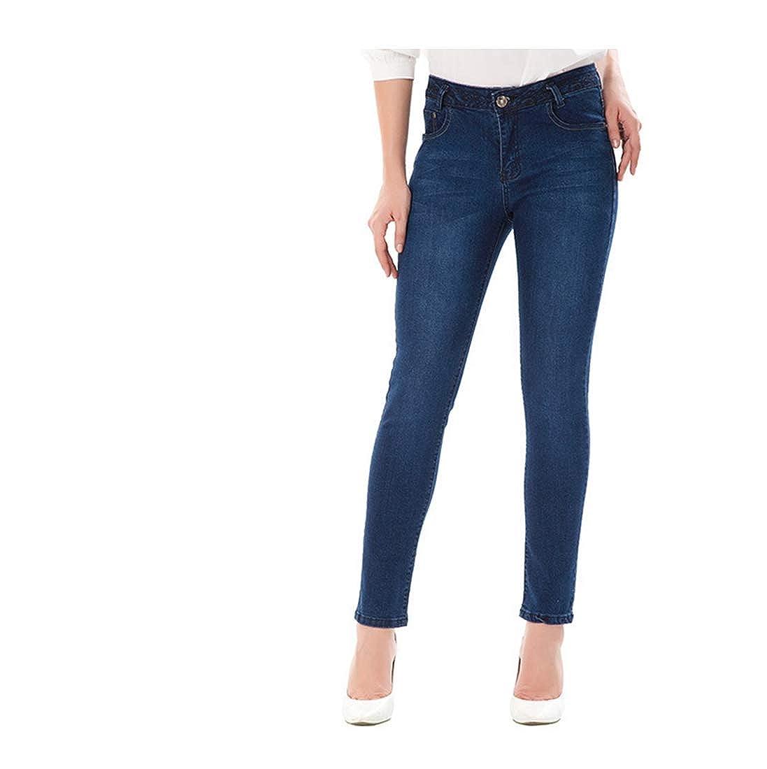 Kirabon Large high-Waist Jeans Womens wear and Winter Trousers