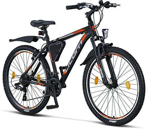 Licorne Bike Effect Premium mountainbike aluminium schijfrem/V-rem fiets voor jongens, meisjes, heren en dames – 21…