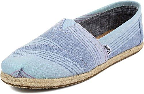 Toms - Womens Slip-On Shoes In Blue Summer Stripes, Size: 10 B(M) US, Color: Blue Summer Stripes