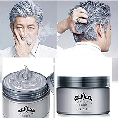 GARYOB Silver Gray Hair Wax Natural Ash Matte Long-lasting Professional Strong Hair Lacquers Gel Cream 4.23oz for Men and Women