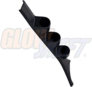 "GlowShift Black Triple Pillar Gauge Pod for 1986-1993 Dodge Ram First 1st Generation Cummins - ABS Plastic - Mounts (3) 2-1/16"" (52mm) Gauges to Truck's A-Pillar"