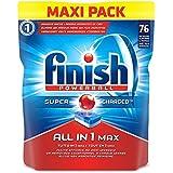 Finish All in 1 Max Pastiglie Lavastoviglie, Regular, 76 Tabs