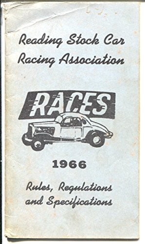Reading Stock Car Racing Association Rule Book 1966-Rules for Modifieds-VG
