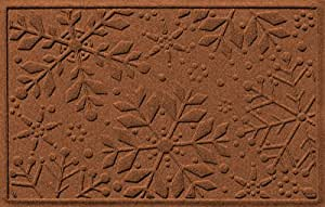 Aqua Shield Holiday Snowflake Mat, 2 by 3-Feet, Dark Brown