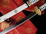 S0238 ANIME BLEACH INUYASHA SAMURAI SWORD W/ HAMON EDGE SAKURA TREE WHITE 41""