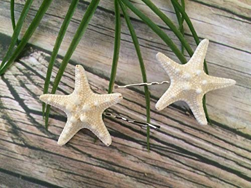 Knobby Starfish Beach Bobby Pins, Set of 2