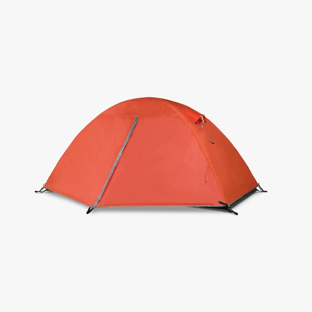 QB-tent Im Freien kampierendes grünes Zelt, einzelnes doppeltes kampierendes Aluminiumklammerzelt, Das Wandern, wandernd