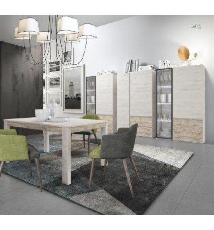 Centro hogar sánchez Conjunto Modular de vitrinas para salón ...