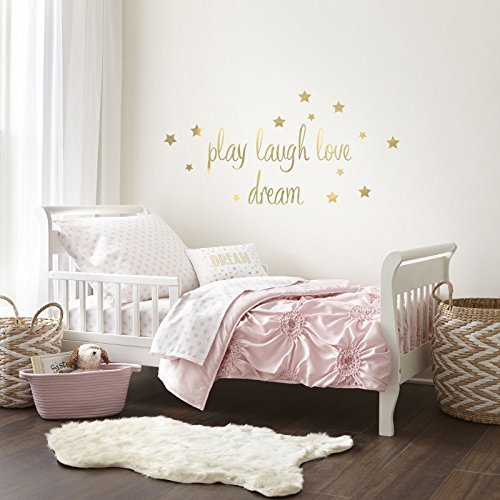 Levtex Home Baby Willow 5 Piece Toddler Bedding Set, Pink