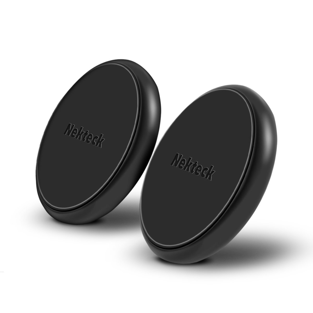 Nekteck Universal Stick on Flat Magnetic Car Mount Phone/Key Holder for iPhone X/8/7 6S/ 6 6 Plus, SE, Galaxy S9/S8 S6/S7 Note 9 8 5, LG G7 G6, Pixel 3/2 XL Nexus 6P 5X, Echo Dot More [2Pack]