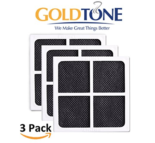 GoldTone Brand Replacement Refrigerator Air Filter fits LG LT120F, Kenmore Elite 469918, ADQ73214402, ADQ73214404. Replaces your LG Refrigerator Air Filter & Kenmore Refrigerator Air Filter [3 PACK]