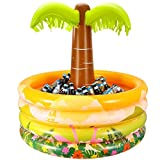 inflatable soda - IBASETOY Palm Tree Inflatable Cooler - Tropical Hawaiian Luau Tiki Lei Summer Party Drink Coolers, Durable and Easy to Inflate, 36