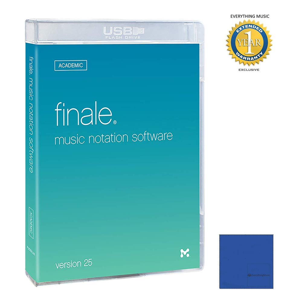MakeMusic! Finale v25 Academicwith 1 Year Free Extended Warranty and Microfiber