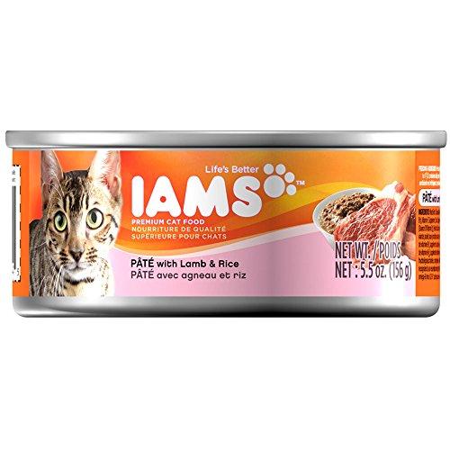 IAMS Pate Adult Wet Cat Food, Lamb, 5.5 oz.