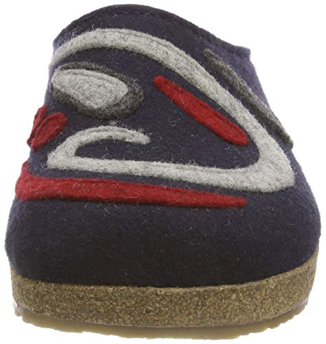 Chaussons 70 Grizzly Mittelblau Jette Bleu Mules Haflinger Femme 8nwTxEq6Ca