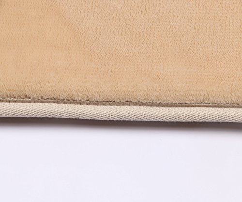 SHACOS 2 Pieces of Memory Foam Kitchen Mats and Rugs Set with SBR Rubber Back Anti-Fatigue Sponge Rug Runner(16×24+16×47, Camel)