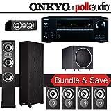 Polk Audio TSi 300 7.1-Ch Home Theater System with Onkyo TX-NR656 7.2-Ch Network AV Receiver