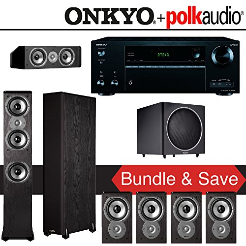 Polk Audio TSi 300 7.1-Ch Home Theater System with Onkyo TX-NR656 7.2-Ch Network AV Receiver