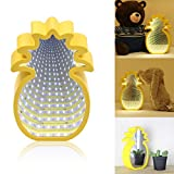 Pineapple Decor Light Battery Powered 45 LED Fairy String Lighting for Christmas Home Wedding Party Bedroom Birthday Decoration (Warm White)