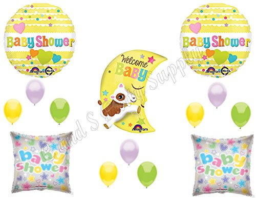 COW JUMPED OVER MOON BABY SHOWER Balloons Decoration Supplies Hey Diddle (Cow Jumped Over The Moon Nursery Rhyme)