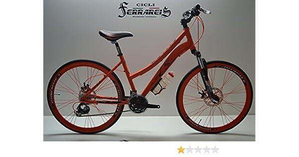 Bicicleta de carretera bicicleta híbrida Trekking mujer aluminio 3 ...