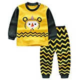 BOBORA Long Sleeves Girls Boys Baby Children Clothing Suits 2 Piece Sleepwear