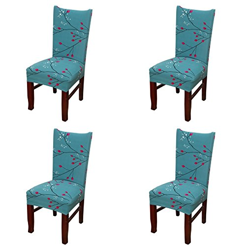 My Decor Dining Chair Cover, Super Fit Stretch Removable Washable Short Dining Chair Protect Cover Slipcover Style 32, 4 Pack (Ding Ding Ding We Have A Winner)