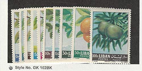 Lebanon, Postage Stamp, 392-401 Mint NH & LH, 1963 Fruit, JFZ