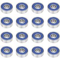 Accessotech- 16 roulements à billes sans frottement ABEC9 pour patins à roues alignées
