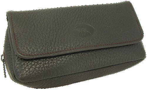 Martin Wess Germany ''Scandinavian Elk Leather'' Combo Tobacco Pouch Pipe Case by Martin Wess