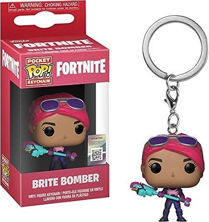 Funko 36969 Pop! Keychain: FortniteBrite Bomber, Multicolor