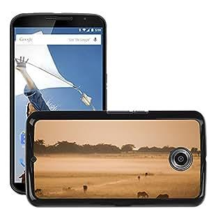 Etui Housse Coque de Protection Cover Rigide pour // M00133399 Campo Animales Granja // LG Google Nexus 6