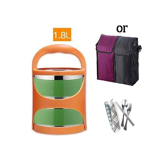 ZWYSL - fiambrera Bento Lunch Box Acero Inoxidable Portátil ...