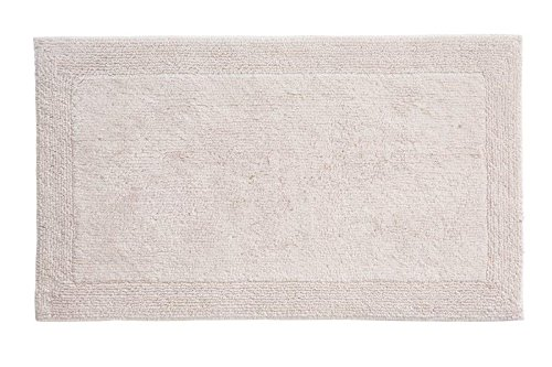 Grund Certified 100% Organic Cotton Reversible Bath Mat, Puro Series, 21-Inch by 34-Inch, Panna
