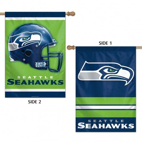 Seattle Seahawks Banner 28x40 Vertical 2 Sided - Licensed NFL Gift - Seattle Seahawks Collectible (Seattle Gifts Online)
