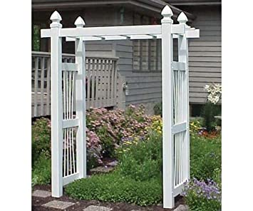 Captivating Dura Trel Courtyard Vinyl Pergola Arbor