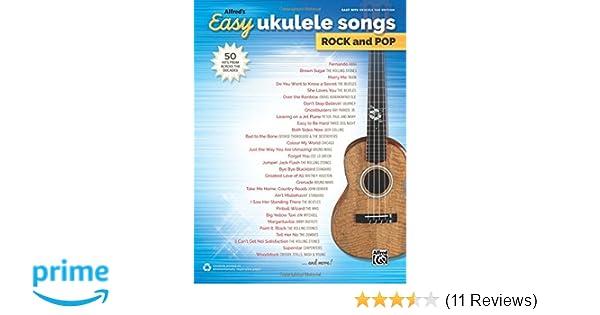Amazon Alfreds Easy Ukulele Songs Rock Pop 50 Hits From