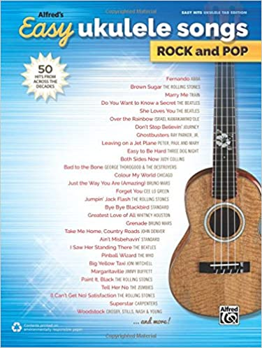 Amazon Alfreds Easy Ukulele Songs Rock Pop 50 Hits From