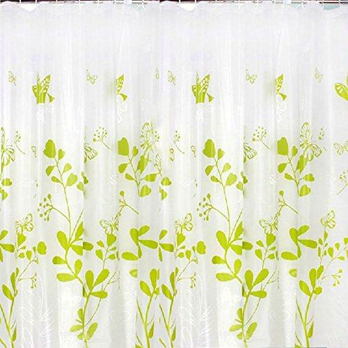 50OFF FeiQiong Shower Curtain Liners For Bathroom Green Butterfly Eco Friendly PEVA Material
