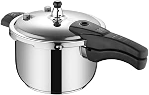 Pressure cooker, family 304 stainless steel induction cooker pressure cooker, gas explosion-proof pressure cooker generally 4L, 5L, 6L, 8L, 10L, 13L, 16L (Color : Silver, Size : 16L)