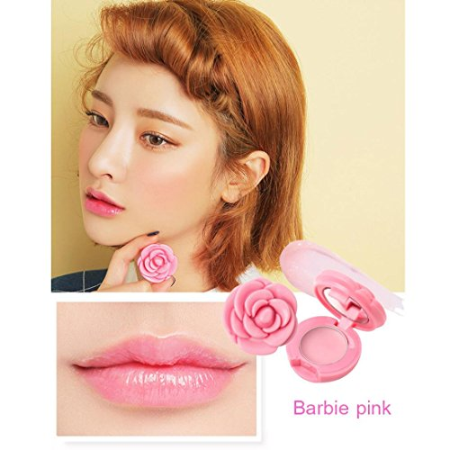 Lip Gloss, Hunzed Square Lasting Lipstick Rose Petal Shape Waterproof Lip Soft Moisturizing Lipstick Lip Gloss Sexy Lipstick Cosmetic Stick Beauty Makeup Lipstick (B) Moisturizing Rose Lipstick