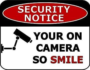 Amazon.com: Aviso de seguridad de tu cámara para sonreír ...