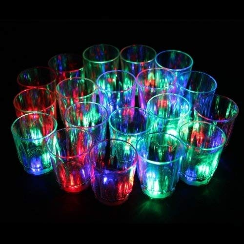 LED-Cube® 24 Flash Light Up Cups Flashing Shots Light 24 LED Bar Night Club Party Drink by LED-Cube