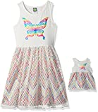 Dollie & Me Little Girls' Knit to Crochet Lace Dress and Matching Doll Outfit, White/Multi, 6 offers