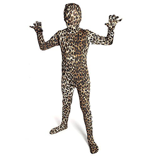 Morphsuits Kids Premium Leopard Costume - size Large 4'-4'6 -