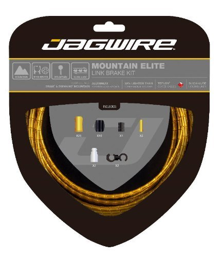 Jagwire Mountain Elite Link Bicycle Brake Cable Housing Kit (Gold) by Jagwire by Jagwire