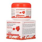 LuckyFine Goji Face Cream Wolfberry Multi Effect Anti Aging Anti Wrinkle Anti Oxidant Goji Berry Whitening Cream 100g