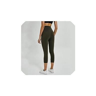 Yoga Pants Naked Feels Plain Athletic Fitness Cpari Pants ...