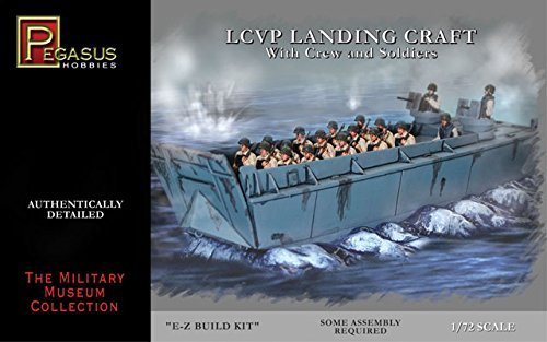 Pegasus PG7650-1/72LCVP Landing Boat with Figurines and Base